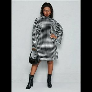 NWT Plus Houndstooth Dress